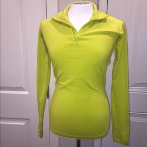 Nike dri fit small lime green long sleeve